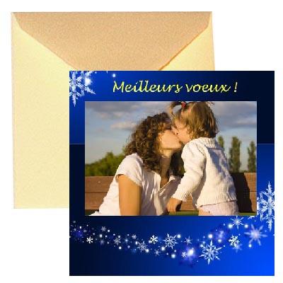 4 cartes voeux photo (15x15cm + enveloppe)