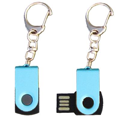 Mini porte-clés USB - 8Gb bleu-noir