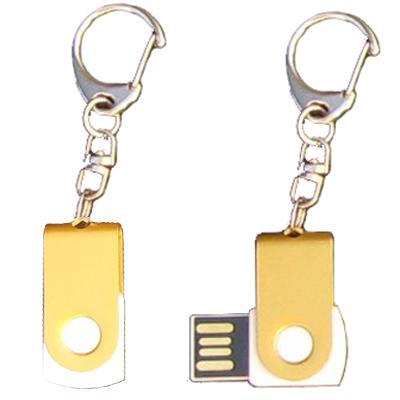 Mini porte-clés USB - 8Gb doré-blanc