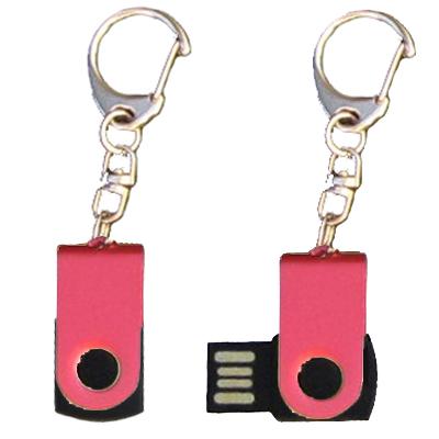Mini porte-clés USB - 8Gb rouge-noir