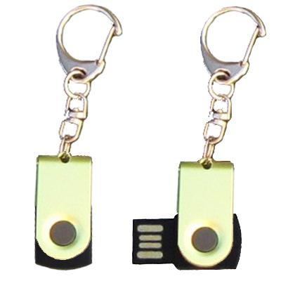 Mini porte-clés USB - 8Gb vert-noir