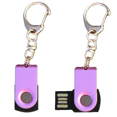 Mini porte-clés USB - 8Gb violet-noir