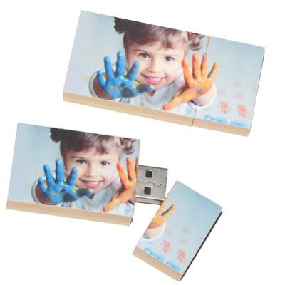 Clé USB bois perso