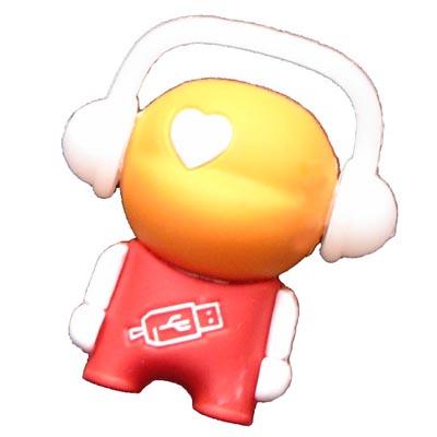 Clef USB caoutchouc bonhomme 8Gb