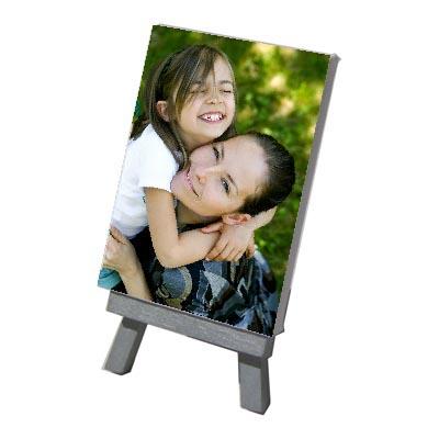 Mini Toile photo 7x10 sur chevalet argent