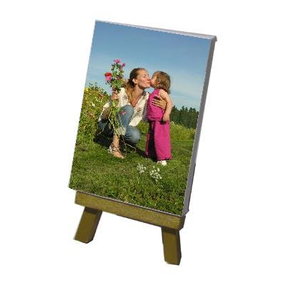 Mini Toile photo 7x10  sur chevalet doré