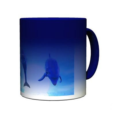 Mug photo magique bleu personnalis for Faience 11x11 blanc